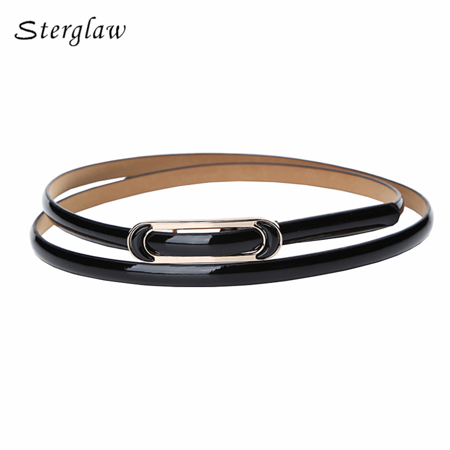 Smooth Buckle Thin Leather Belts For Women Dress 2020 Designer High Quality Ladies Candy Female Belt Strap Bayan Kemer Y114