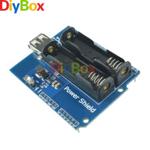 diymore power shield power supply board 5v350ma for arduino aaa2 battery gm