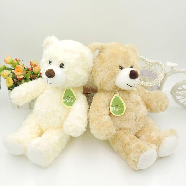 Hot 30CM Kawaii Small Teddy Bears Plush Toys Stuffed Animals Fluffy Bear Dolls Soft Kids Toys Random Necklace/Bow Children Gift