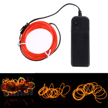 Neon LED Light Glow EL Wire String Strip Tube Car Dance Party + Controller
