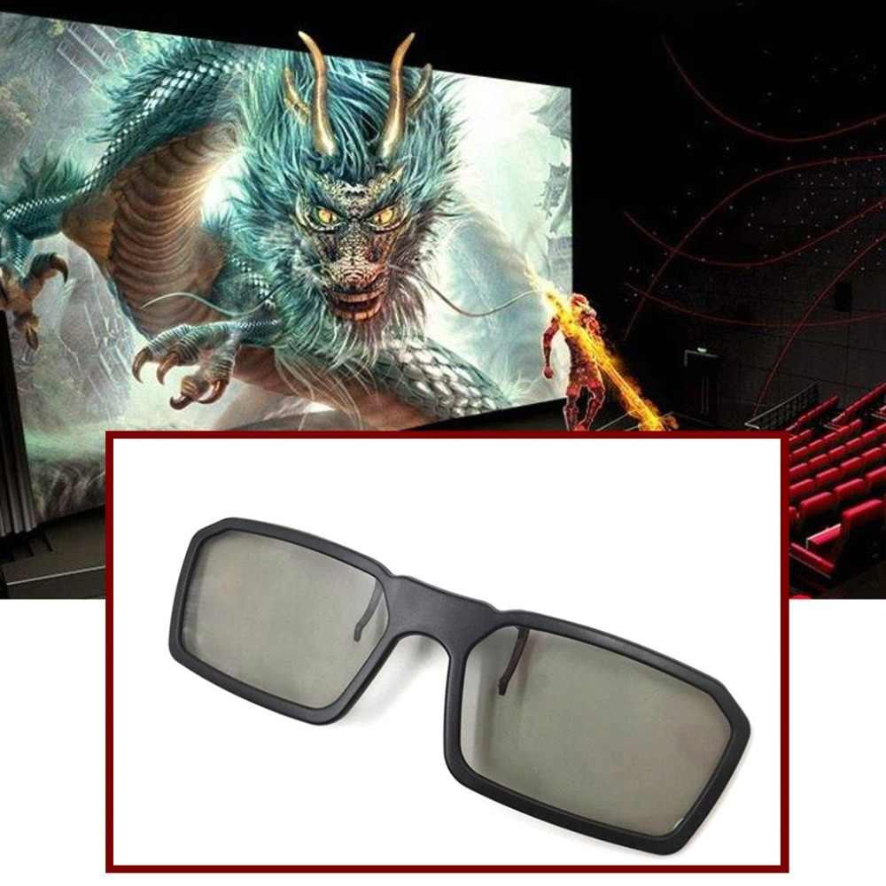 2018 Hot Clip On Tipo Passiva Circular Polarized Clipe Óculos de Fazer Os Olhos Ver o Efeito 3D 3D A18_40
