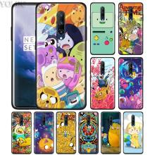 Adventure Time Jake Finn Lumpy Phone Case for Oneplus 7 7Pro 6 6T Oneplus 7 Pro 6T Black Silicone Soft Case Cover