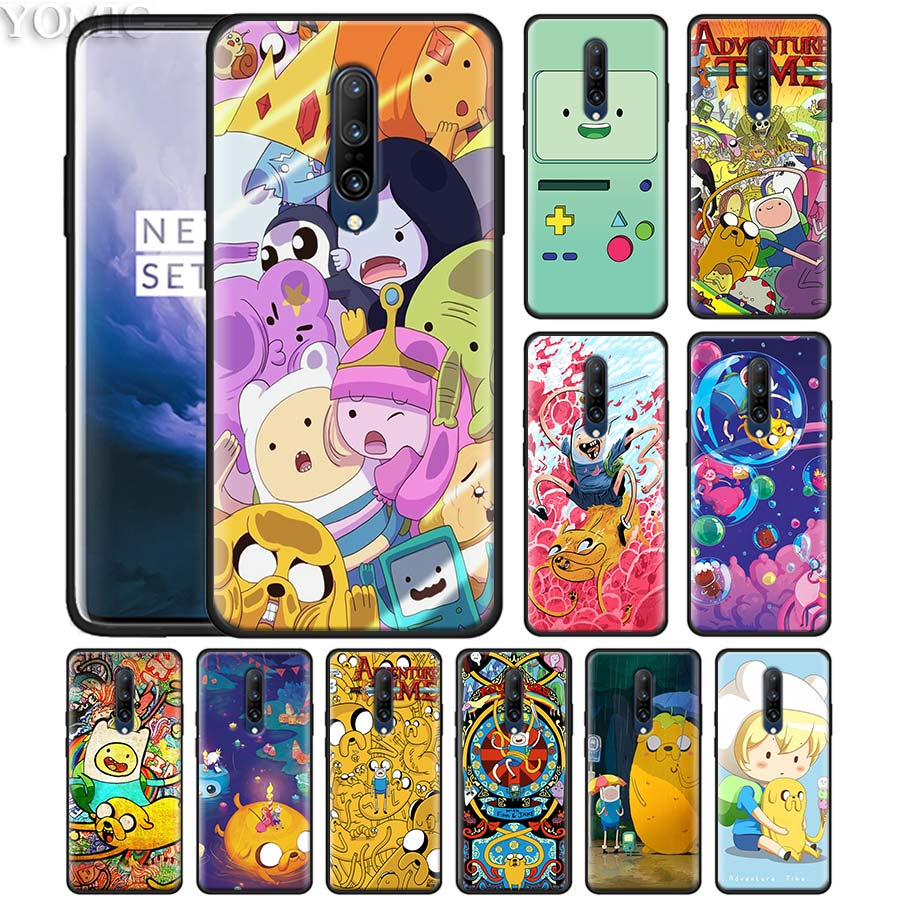 Adventure Time Jake Finn Lumpy Phone Case for Oneplus 7 7Pro 6 6T Oneplus 7 Pro 6T Black Silicone Soft Case Cover image