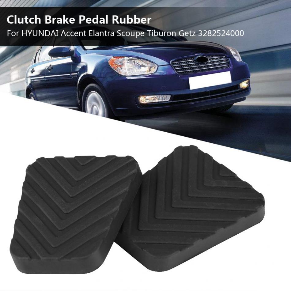 X AUTOHAUX Car Brake Clutch Pedal Pads Cover for Hyundai Accent 2005-2010 2pcs