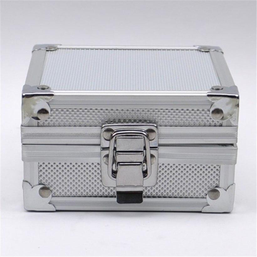 Ny Silver Aluminium Tattoo Machine Kit Boxcase Permanent MakeupTattoo Tillbehör Tillbehör Partier Maquina de Tatuar 11X12X6.3cm