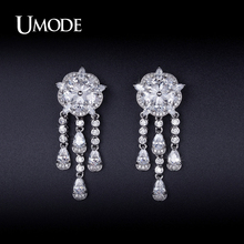 UMODE Simulated Diamond Dangle Earrings For Women Jewelry Fashion 2016 New Orecchini Pendenti Christmas Gifts Bijouterie AUE0235