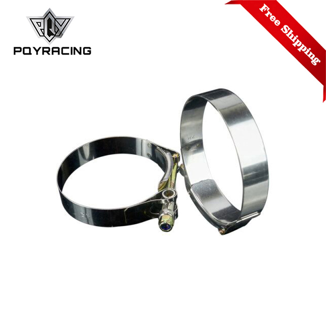 Free Shipping 2PC/LOT SS304 3 CALMPS(79-87)STAINLESS SILICONE TURBO HOSE COUPLER T BOLT CLAMP KIT HIGH QUALITY PQY5254