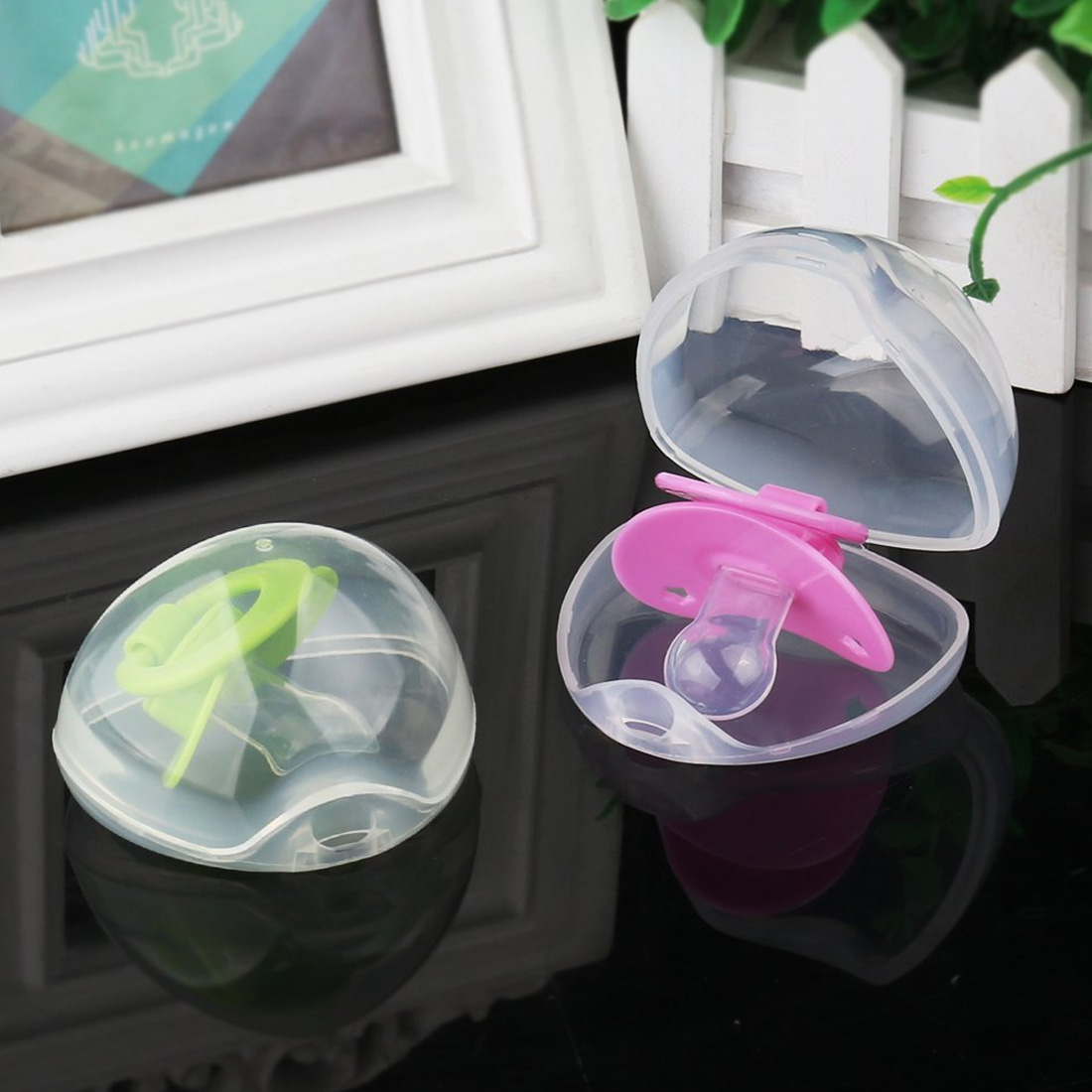Portable Baby Pacifier Nipple Box Nipple Shield Case Infant Dustproof Pacifier Storage Box Pacifier Holder Pacifier Cradle Case