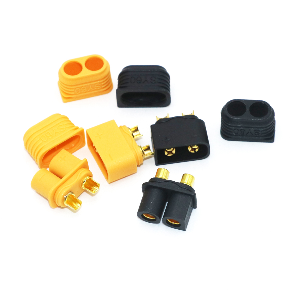 10 X SY60 Connector Plug Male/Femal W/ Sheath Conformance With Amass XT60 XT60H Used In Infinity Battery  (5 Pair )
