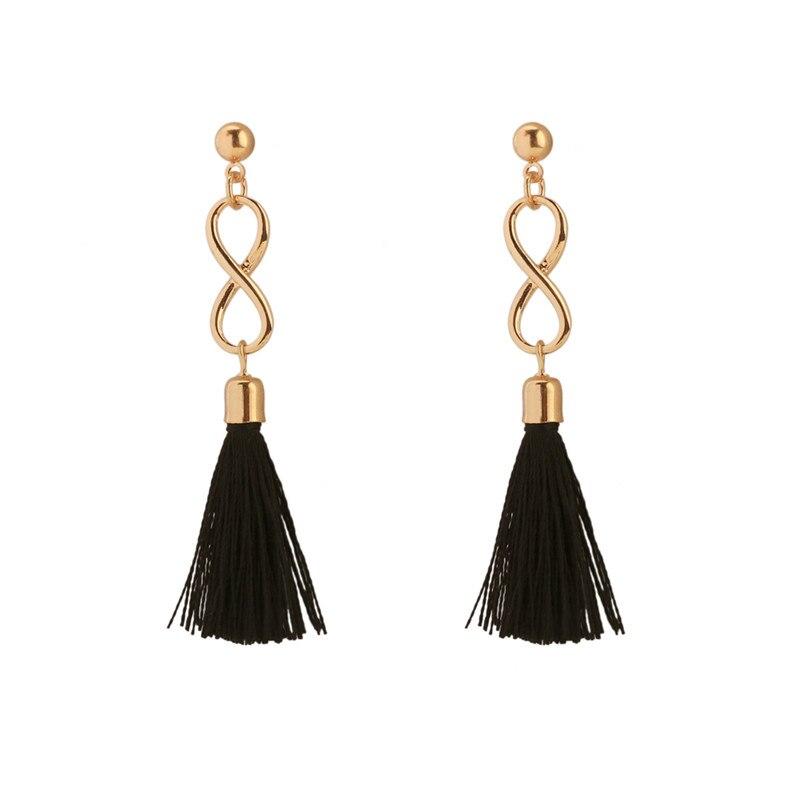 The bride temperament earrings Long tassel earrings stud earrings ears line eardrop national wind earrings Ms tassel in Stud Earrings from Jewelry Accessories