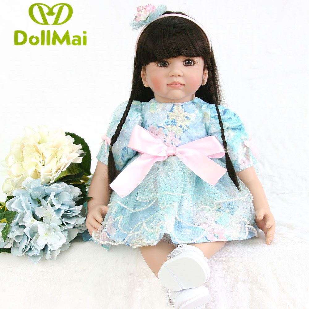 New Hot Sale DOLLMAI Real Silicon Baby Dolls About 24inch Lovely Doll reborn For Baby Gift Bonecal Bebes Reborn BrinquedosNew Hot Sale DOLLMAI Real Silicon Baby Dolls About 24inch Lovely Doll reborn For Baby Gift Bonecal Bebes Reborn Brinquedos