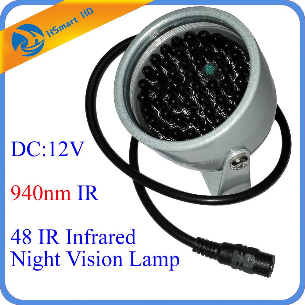 New Hot 940nm 48 LED IR Lights Illuminator Night Vision Light for AHD TVI 1080P 940nm Filter IR Security CCTV WiFi Mini Camera