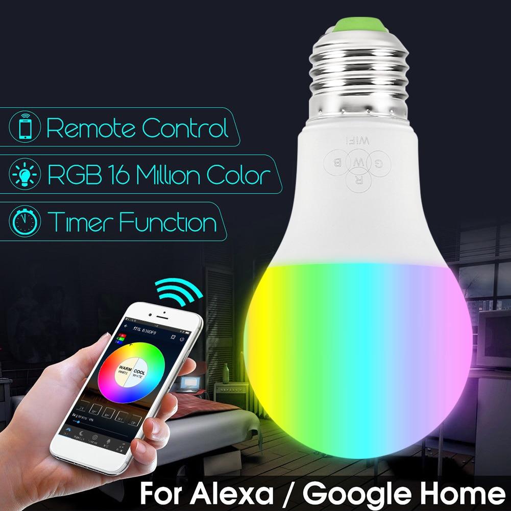 Smart WiFi Ledlamp 4.5 W/6.5 W RGB Magic Lamp Lamp Wake-Up Verlichting Compatibel met alexa en Google Assistent  3