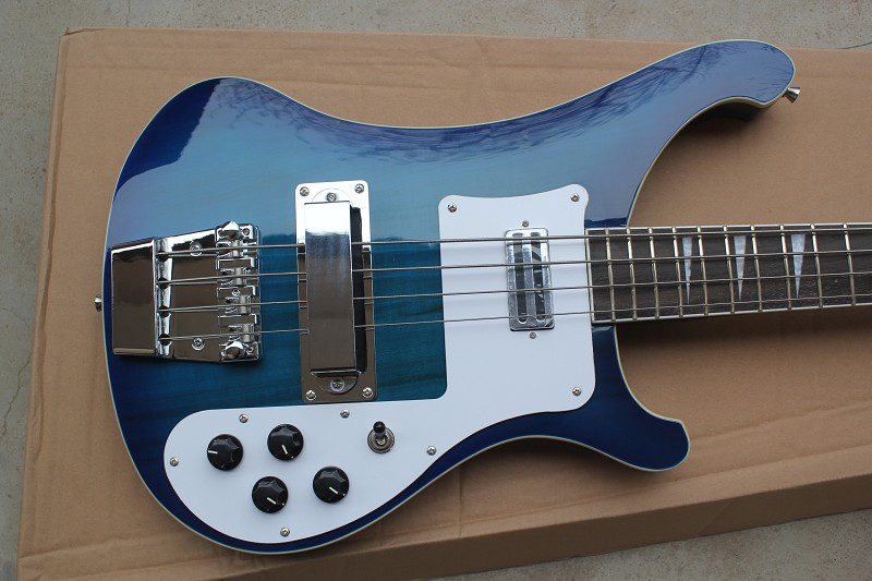 Nouveauté Top qualité usine personnalisé bleu Rickenback 4003 personnalisé 4 cordes basse guitare ricken basse