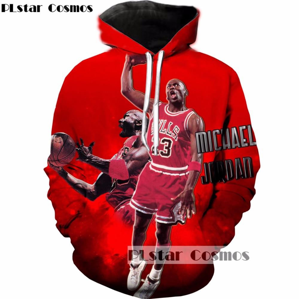 PLstar Cosmos 2017 Autumn/winter new design Fashion 3d hoodies star Air Jordan print Men Women Tracksuit Hooded Sweatshirts