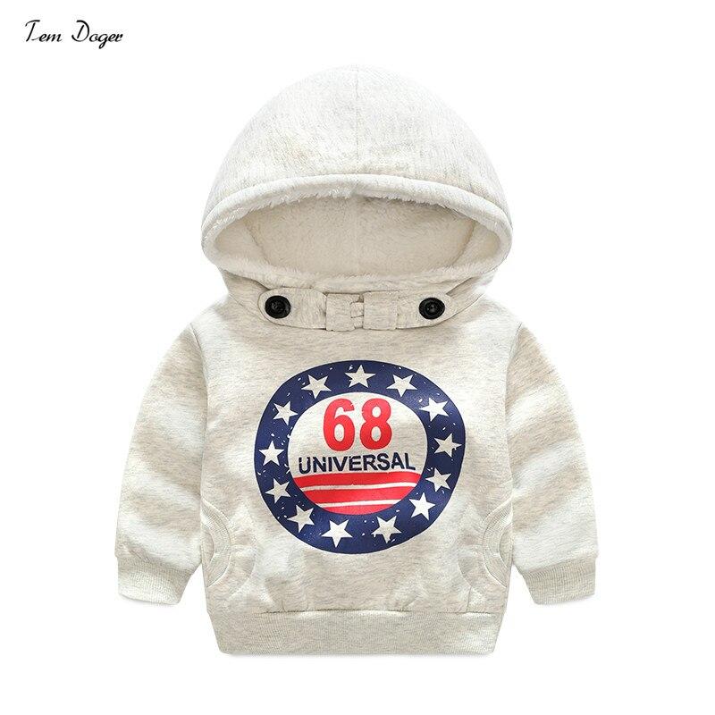 Tem Doger Kids Boys Winter Outerwear Fashion Coat Kids Jackets Warm Hooded Children Boy Clothing