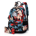 Tela de Flores de impresión mujeres mochila mochilas escolares para adolescentes niñas mochila mochilas mujeres de las señoras bolsas mochila feminina