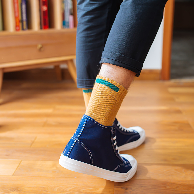 5 Pairs/lot High Quality Fashion Brand Pier Polo Casual Cotton Socks Business Embroidery Crew Mens Socks Manufacturer Wholesale Men's Socks