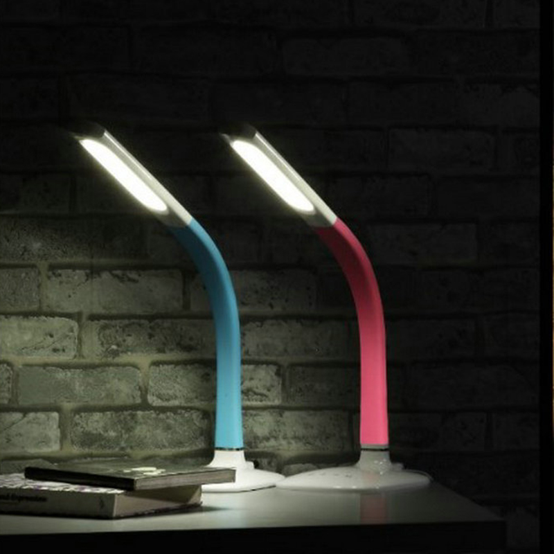 Touch sensor switch Adjustable LED Reading Light eye protection gooseneck tube Desk Table Lamp desk lamp led reading eye protection desk lamp brightness usb rechargeable led desk table lamp light with clip touch switch