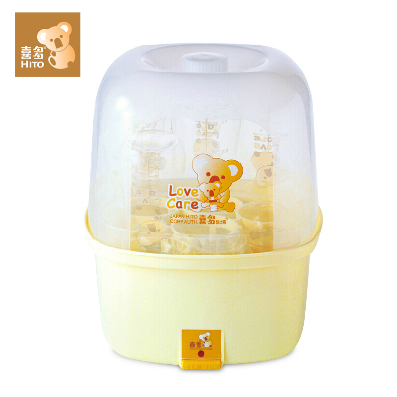 HITO Steam Sterilizing Pot for Baby Feeding Bottle Accessories Sterilizers Contain 6 Bottles One Key to Complete 360W 220V new multifunction intelligent thermostat baby double bottle warmers sterilizers thermal insulation heating egg milk warmer