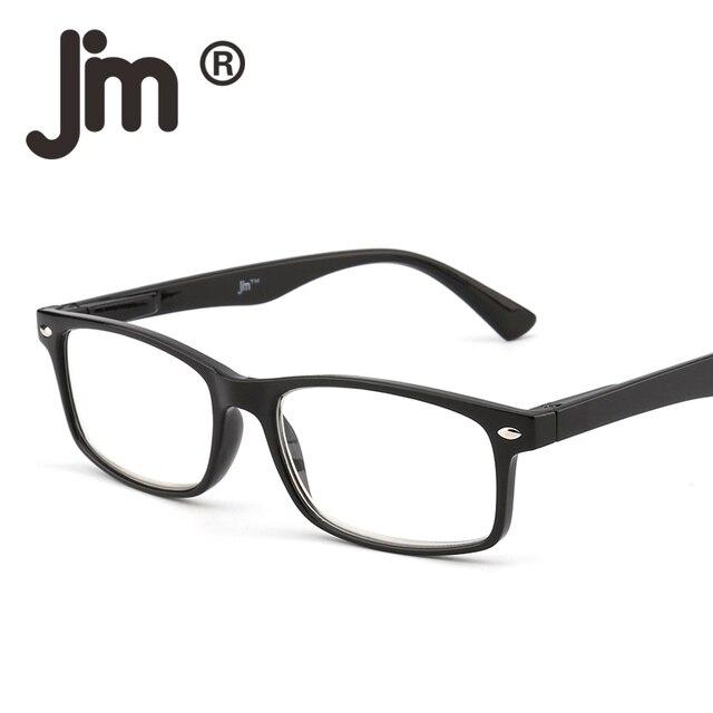 27f23f10553 JM Retro Spring Hinge Reading Glasses Men Women Black Readers Square Frame  Oculos Gafas De Sol