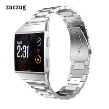 Zuczug Replacement Stainless Steel Strap Wristband for Fitbit Ionic Fitness Bracelet Band Adjustable