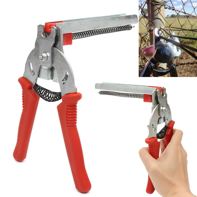 DWZ New Red Hog Ring Heavy Duty M Nail Plier Fencing Fence Wire ...