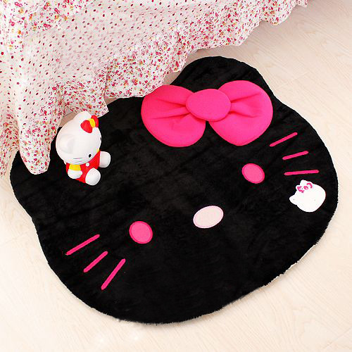 Big Size 75cm*62cm Hello Kitty Kids bedroom Hand wash Cartoon carpets for living room modern bathroom rugs bathroom carpet