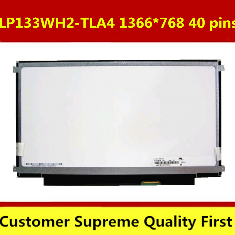"""New 13.3"""" Laptop LED LCD Screen B133XW01 V.2 fit LP133WH2 (TL)(A4) TLA4,-in Laptop LCD Screen"""