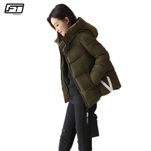 Fitaylor Black Short Feminino Down Cotton Winter Jacket Women 2017 New Casual Hooded Parkas Mujer Ukraine Thick Warm Coat Femme