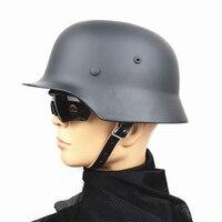 M35 Steel Luftwaffe Helmet Safety Helmet Outdoor Hunting Helmet Tactical WW2 German Army Military Combat Helmet