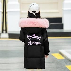 Image 4 - Модная одежда для девочек до 30 градусов, зима 2019, куртки на утином пуху, детские пальто, теплая плотная одежда, детская верхняя одежда для холодной погоды