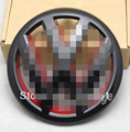 Parrilla delantera Emblem Badge Logo Negro Brillante Rojo Fit VW Golf MK6 GTI R20 2010-2013