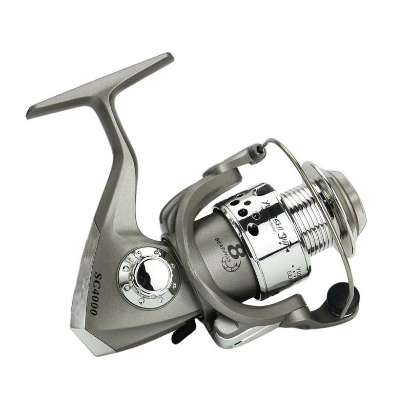 yumoshi Fishing reel plastic plating head reel 5 5 1 Ratio Fishing Spinning Reel SC1000 7000 Series Fishing Reels Fishing Tools in Fishing Reels from Sports Entertainment