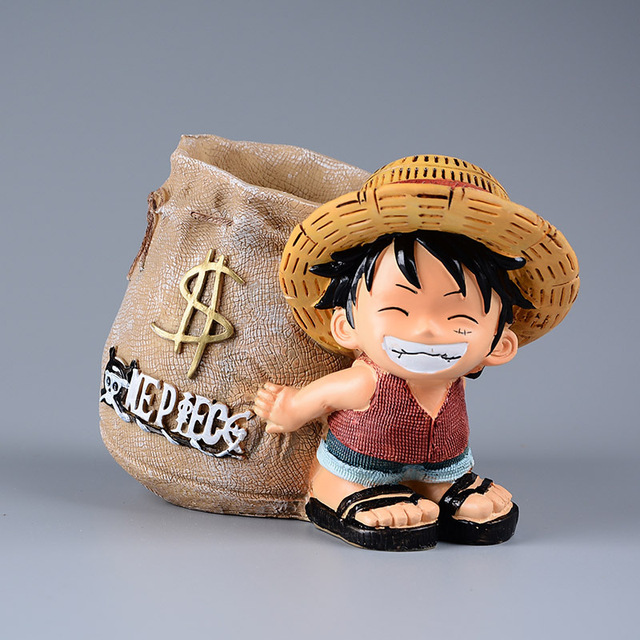 One Piece Luffy Resin Office Pen Holders Toy