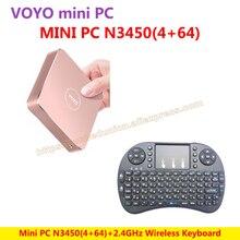 VOYO vmac Mini PC V1 Windows 10 Pocket PC (4 ГБ оперативной памяти + 64 ГБ SSD) Intel озеро Аполлон N3450 + беспроводная клавиатура = N3450 KIT-E-A