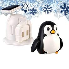Ηλιακά Powered Shaking Toy Χαριτωμένο Penguins Οικιακά Διακόσμηση Αυτοκινήτου Παιδιά Εκπαίδευση Παιχνίδια Παιδιά Γενέθλια Συλλογή Δώρων Ηλιακά Παιχνίδια