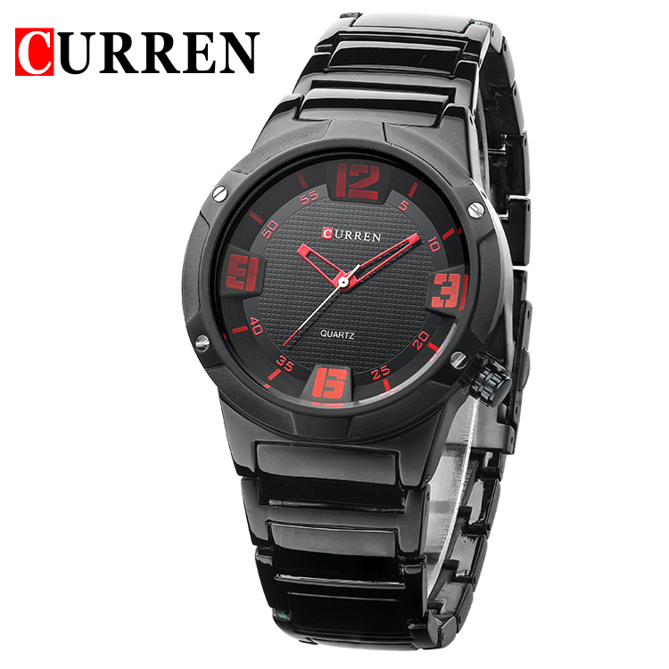 Relojes CURREN Watches Men Black Full Steel Waterproof Clock Military Sport Quartz Watch Mens Luxury Brand  Business Wristwatch fashion black full steel men casual quartz watch men clock male military wristwatch gift relojes hombre crrju brand women watch