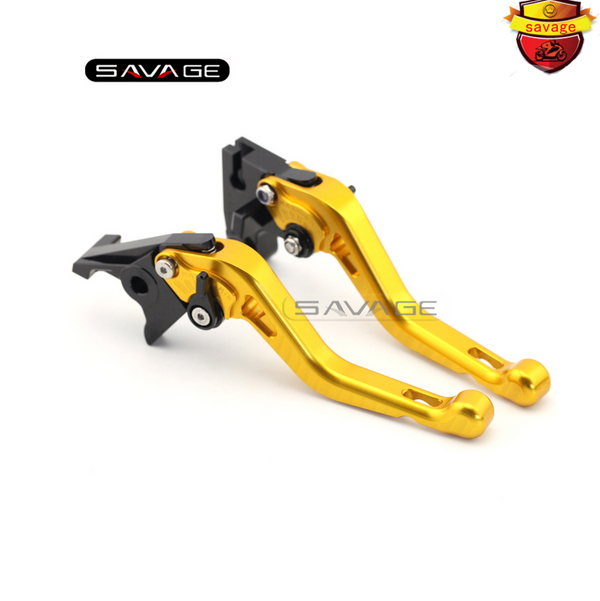 ФОТО For Triumph Tiger 800/XC/XCX/XR/XRX THRUXTON 2015-2016-2017 Motorcycle CNC Aluminum Short Adjustable Brake Clutch Levers Gold