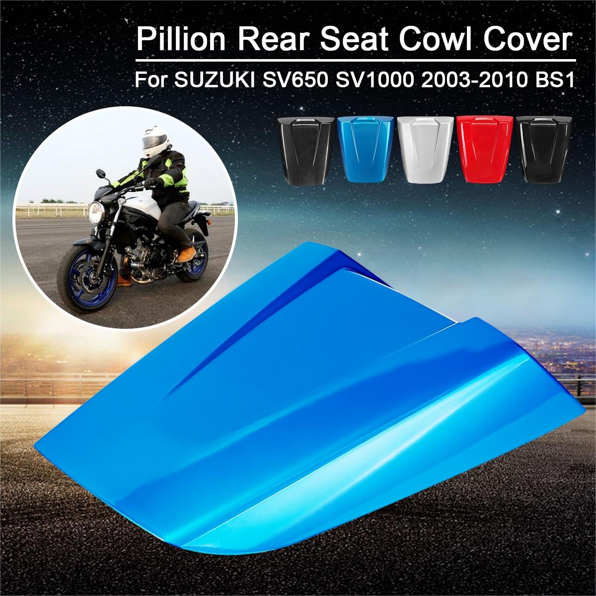 Motorcycle Fairing Set Passenger Rear Pillion Passenger Seat Cover Cowl Tail Fairing 5Color for SUZUKI SV650 SV1000 2003 2010