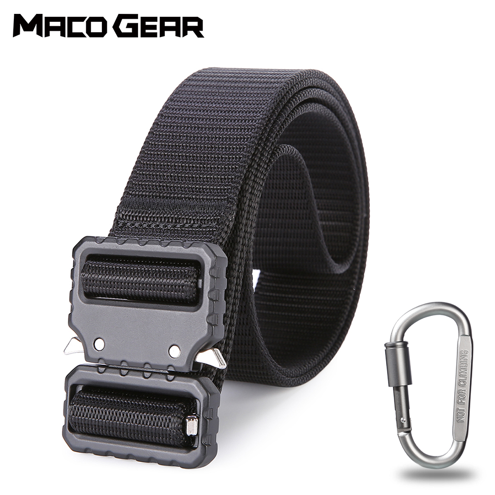 Metal Buckle Tactical Belt Military Waist Support Strap Sports Hunting Training Hiking Outdoor Army Utility Molle Accessories