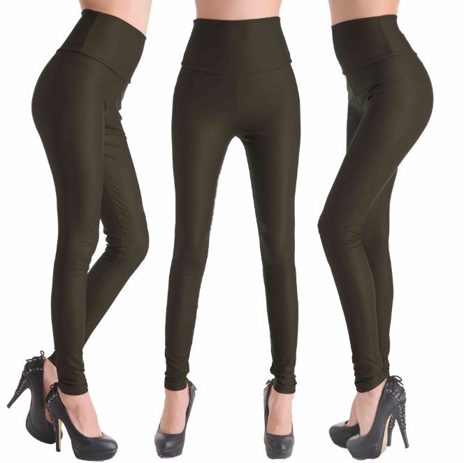 2017 New Women Sexy Leggings Faux Leather Stretch Legging High Waist Leggings Juniors Pants 4 size 21 Colors 11