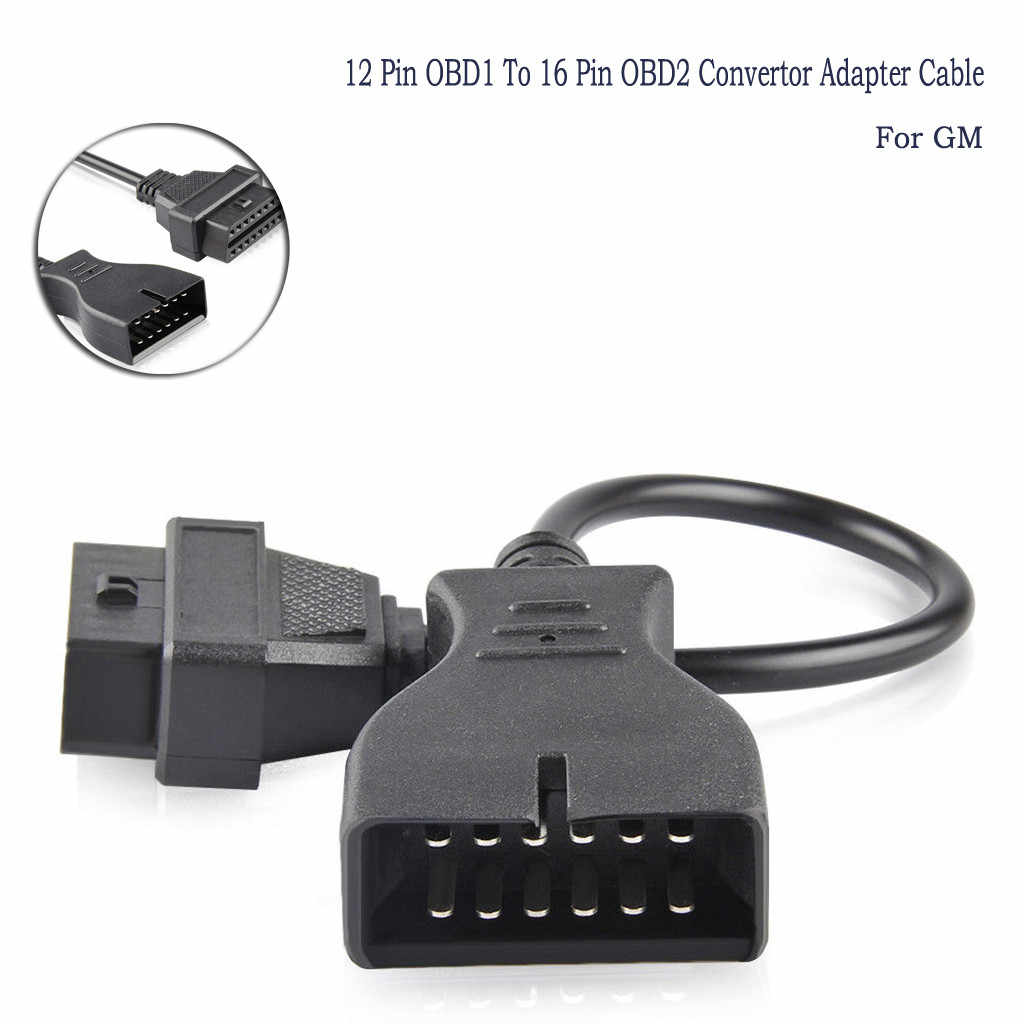 GM 12 Pin OBD1 to 16 Pin OBD2 Convertor Adapter Cable For Diagnostic Scanner New