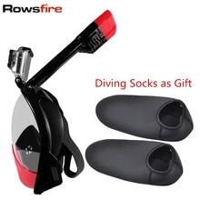 Rowsfire Podwodne Całą Twarz Maska Do Nurkowania Snorkel antypoślizgowych Anti-fog Szybkie Suche Nurkowanie Biegów Pływanie Pierścień Accessorie Nurkowanie fajka