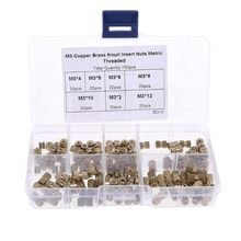 150pcs M3 Brass Insert Nuts Threaded Assortment Set Kit with Box