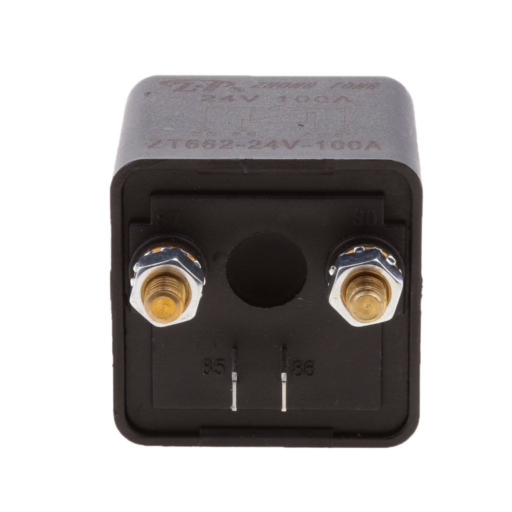 24V 100Amp Split Charge Relay Switch 4 Terminal Relays for Truck ...