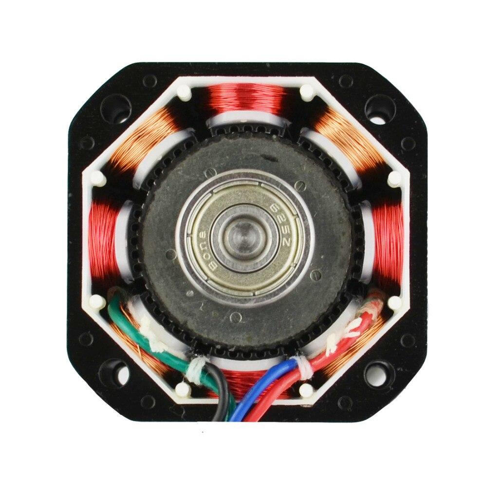 Bateau gratuit! 5 pièces 4 fils Nema 17 moteur pas à pas 42 BYGH 40mm 1 m câble 45Ncm (64oz. in) 2A 17hs4401 moteur pas à pas pour imprimante 3D - 4