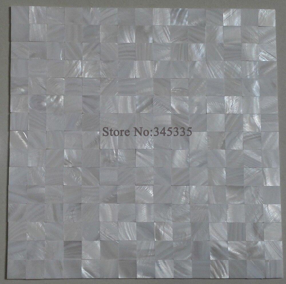 groutless quadrato bianco madreperla shell mosaico backsplash cucina piastrelle bagno doccia metropolitana carta di parete border