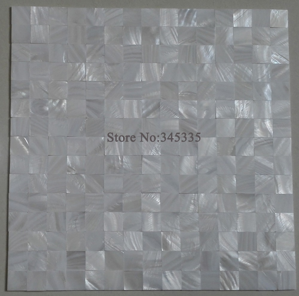 Groutless white square mother of pearl shell mosaic kitchen groutless white square mother of pearl shell mosaic kitchen backsplash tile bathroom shower subway wall paper border tiles in wallpapers from home dailygadgetfo Image collections