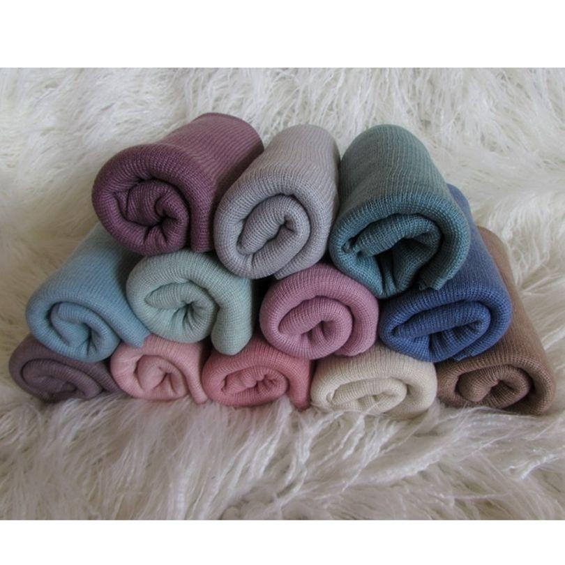 10 Pieces/lot 50cm X 150cm Stretch Film Wrap Stretch Jersey Wrap Fabric Backdrops Hammock Baby Blanket Photo Studio Props